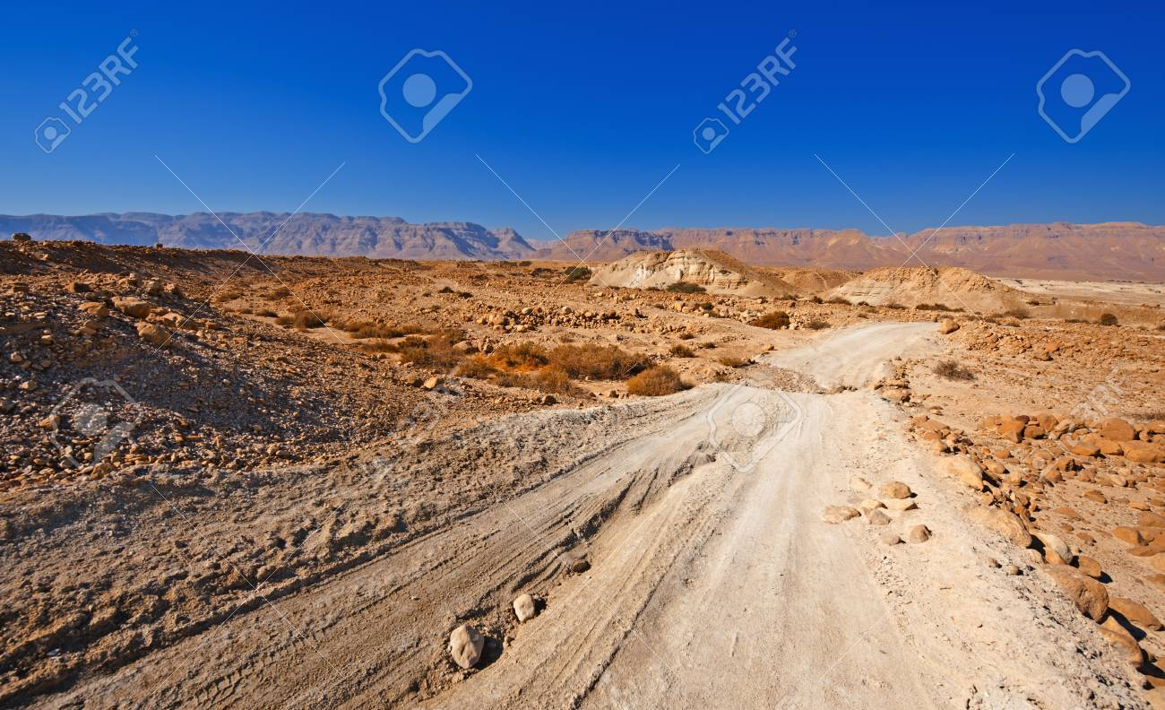 Sand Road in the Judean Desert Stock Photo - 17174018