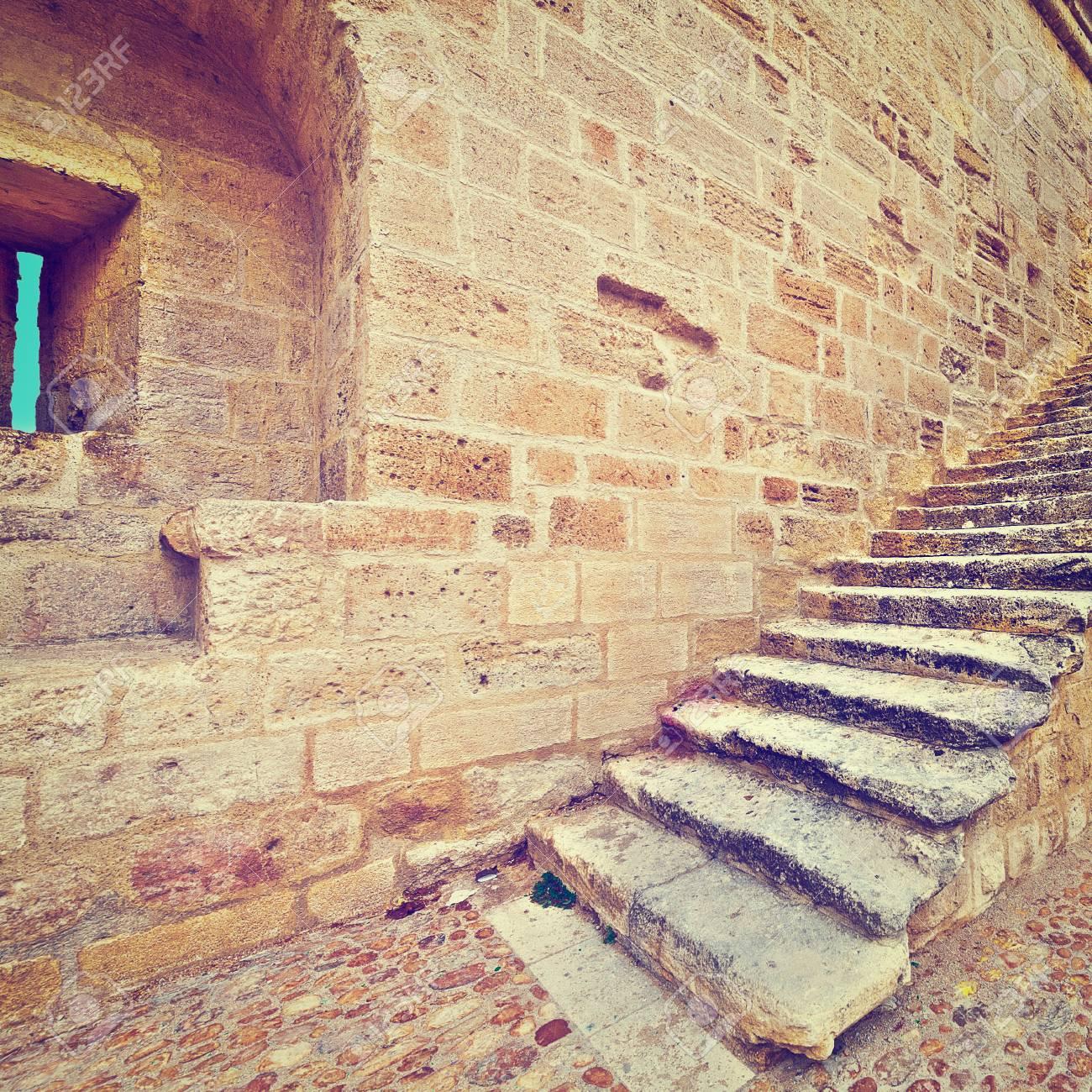 Crusader Festung Von Aigues Mortes In Frankreich Vintage Style