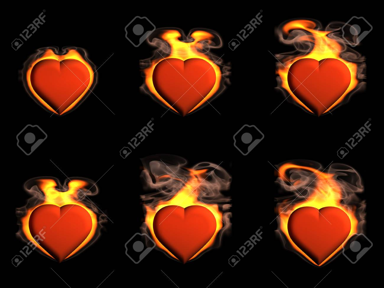 Heart in Fire Stock Photo - 9919410