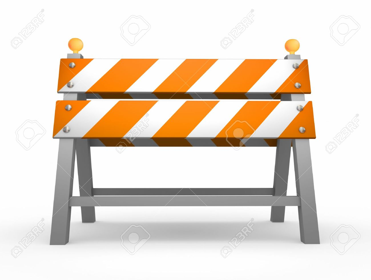 Road barrier - isolated on white background Stock Photo - 9919706