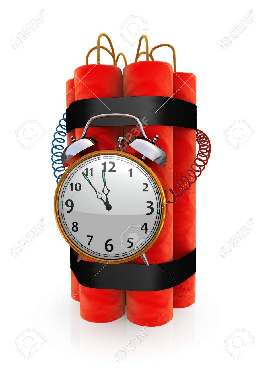Bomb with timer Stock Photo - 10333589