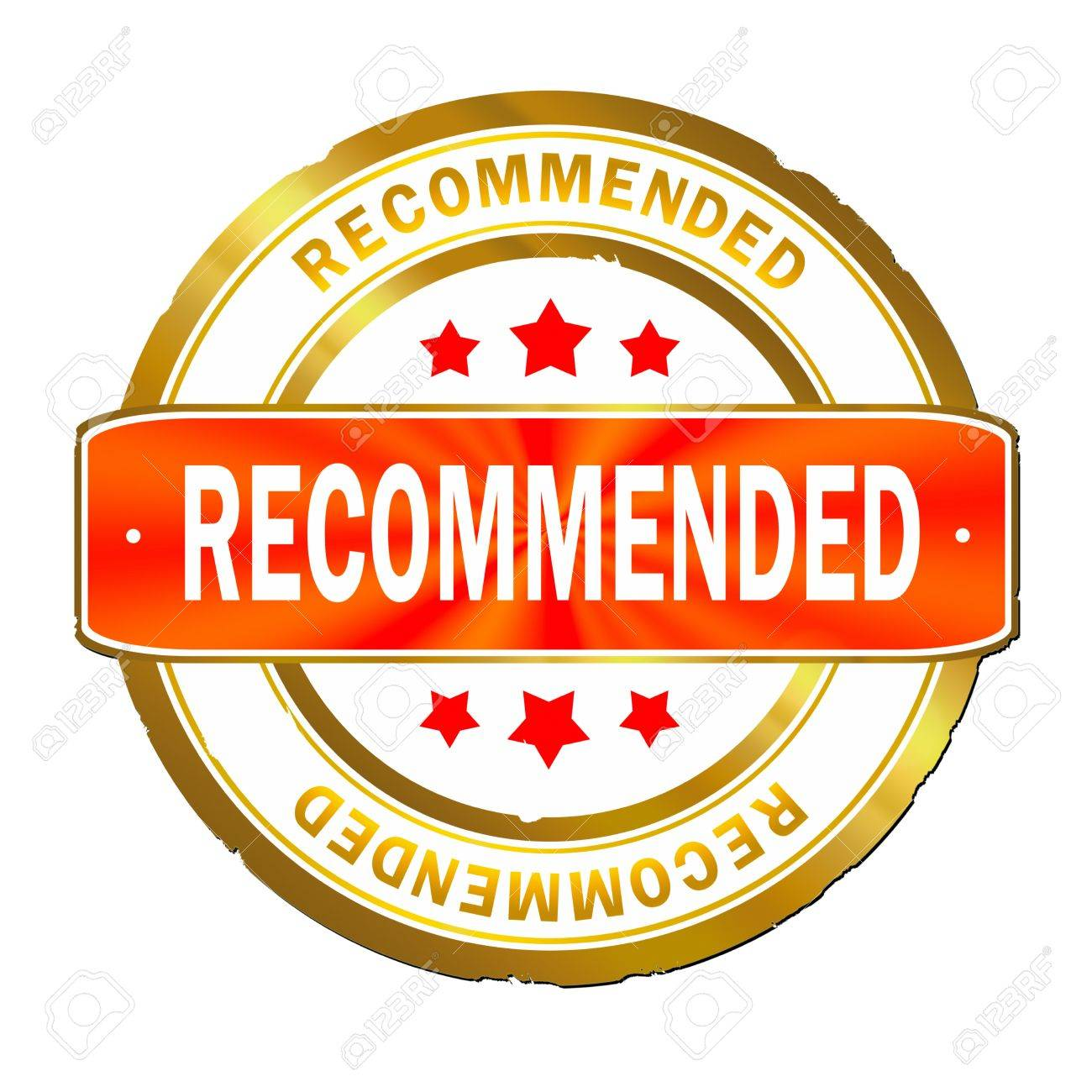 Recommended stamp  recommended Recommendation Stamp