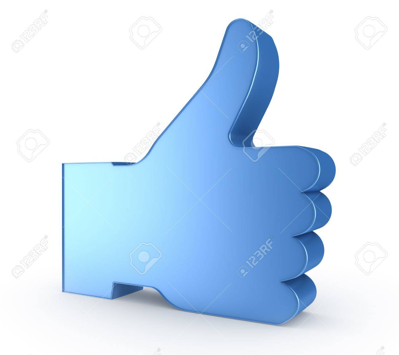 3d thumb up - blue hand symbol Stock Photo - 12655661