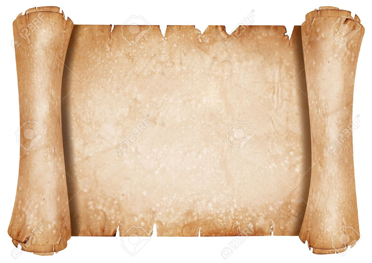 Old Parchment Paper Scroll Stock Photo