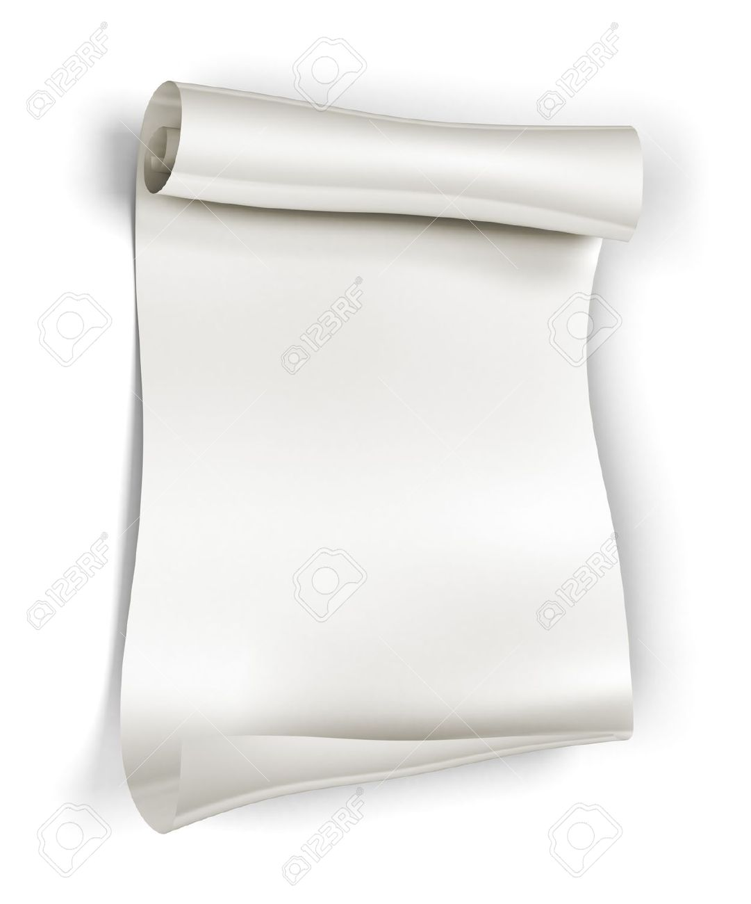 Scroll paper for writing