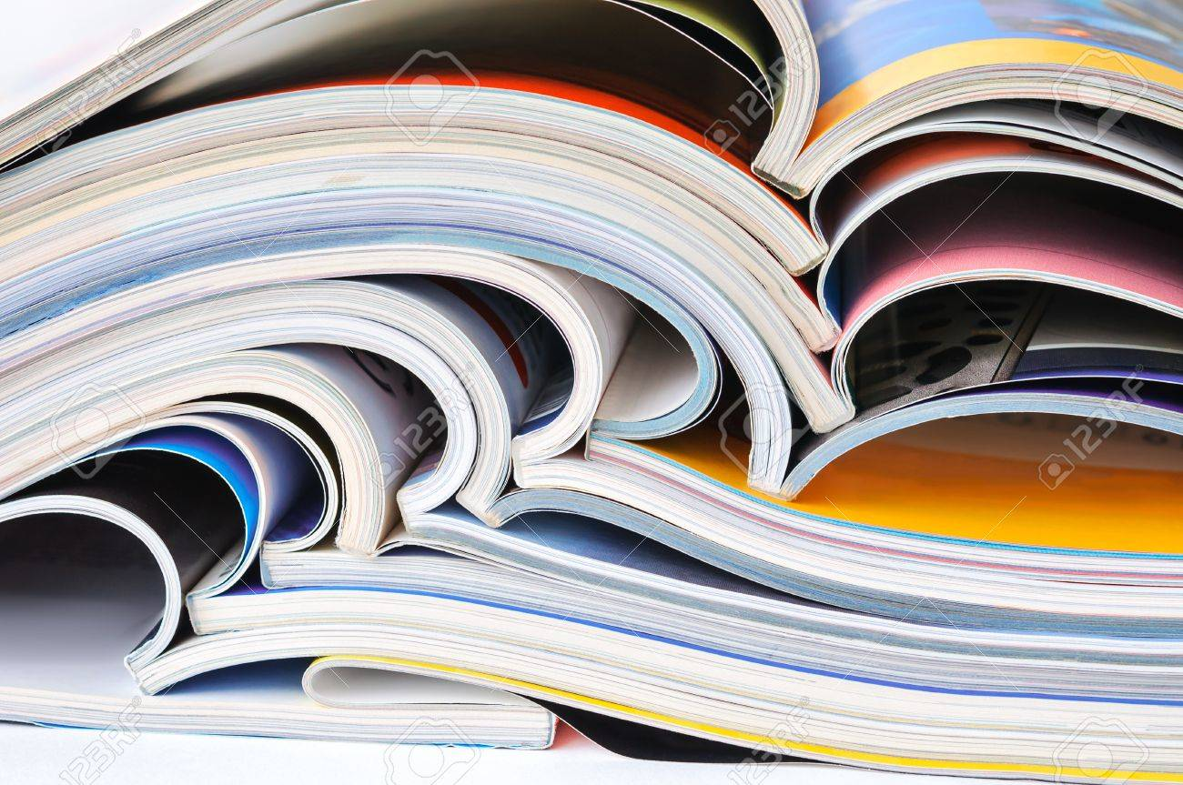 Pile of colorful magazines - 20664321