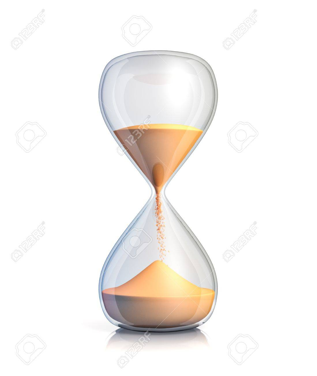 Sand clock - isolated on white background - 22014851