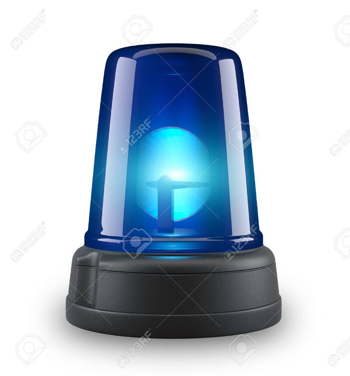 Blue siren - 3d illustration on white background - 25888427