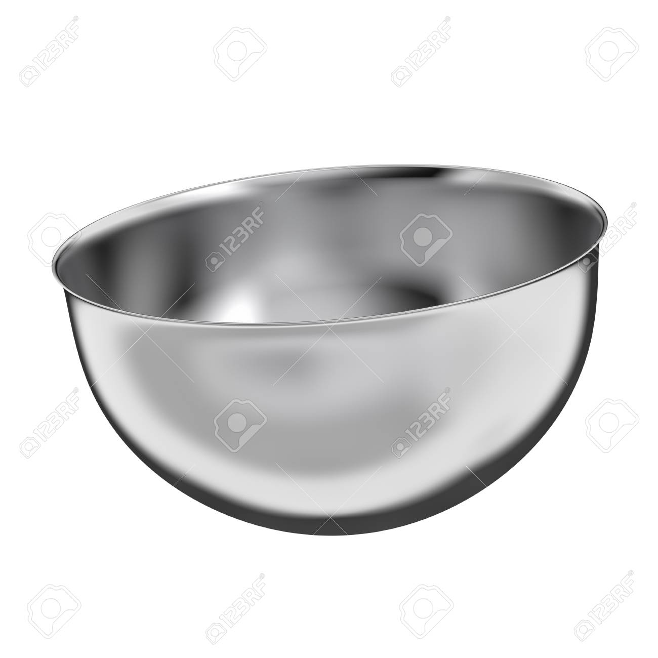 Stainless steel bowl - isolated on white background - 28414865