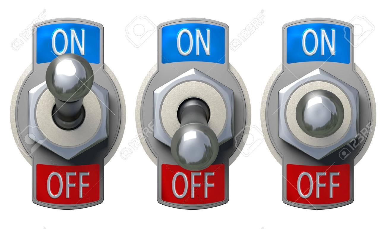 Toggle Switch set - isolated - 35764177