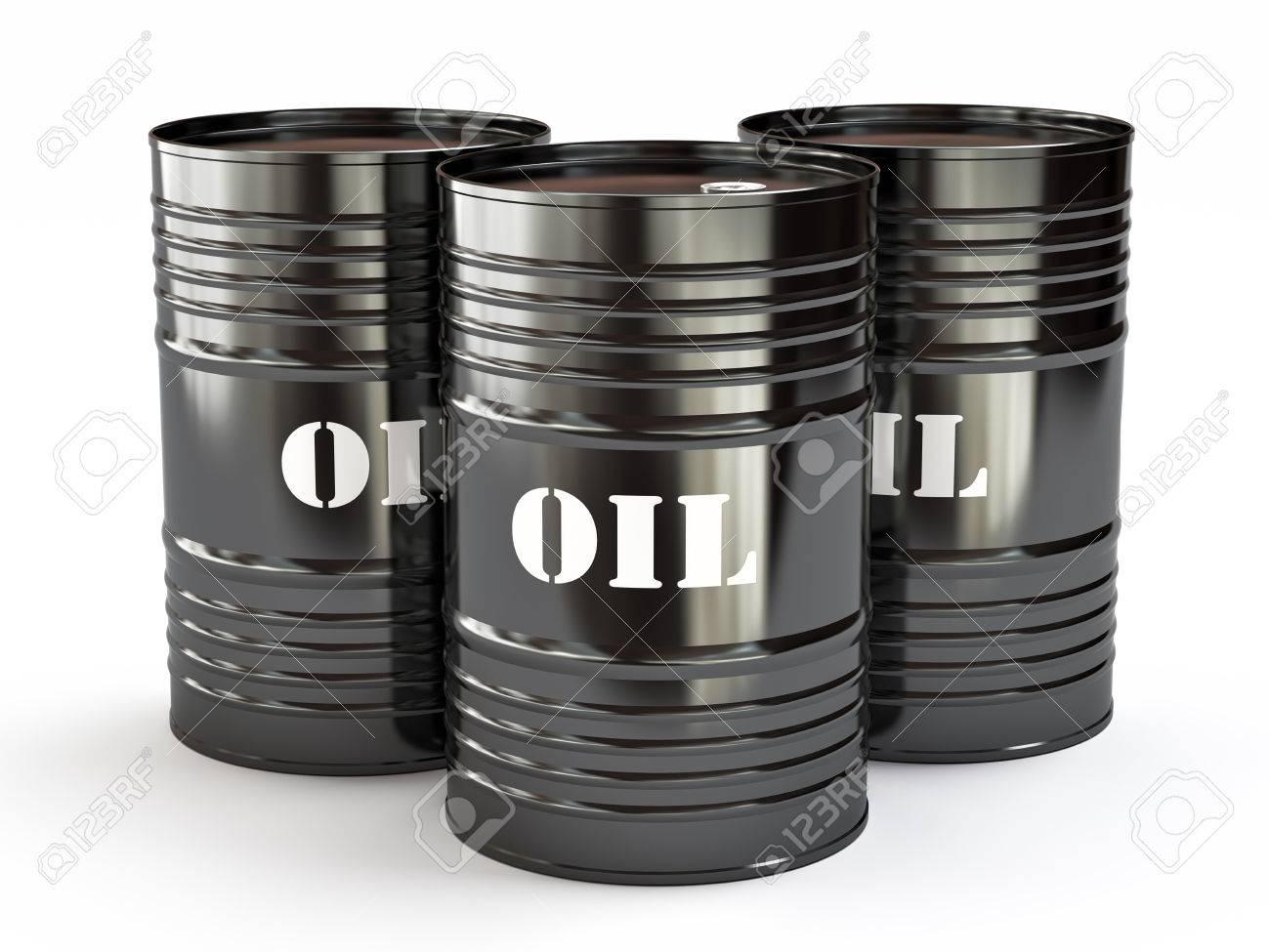 Beliebt Bevorzugt Gruppe Von Schwarzen Ölfässer, 3d Illustration Lizenzfreie Fotos #NN_45