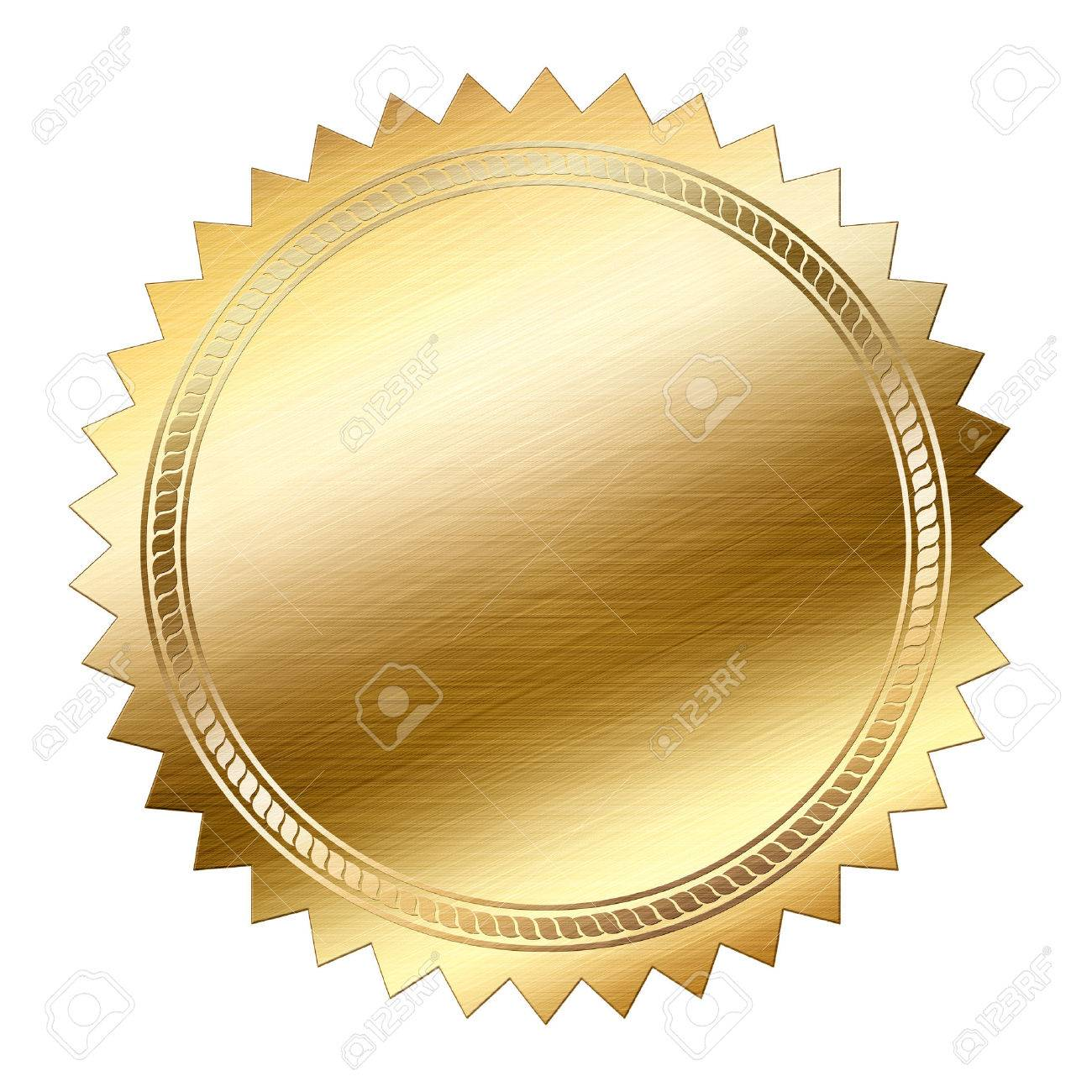 Golden Seal isolated on white background - 37404723