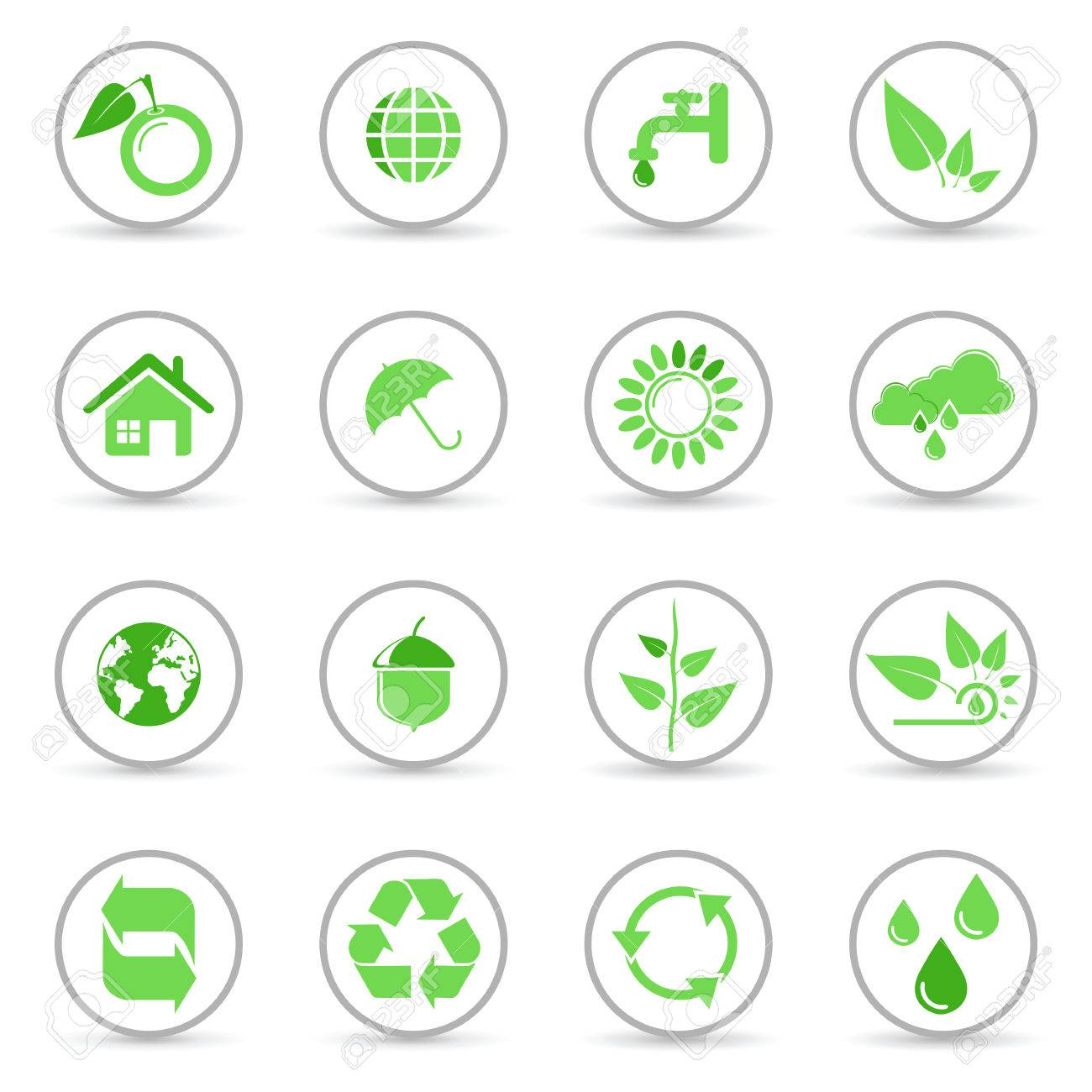 Environmental and recycling vector icons set Stock Vector - 6514422