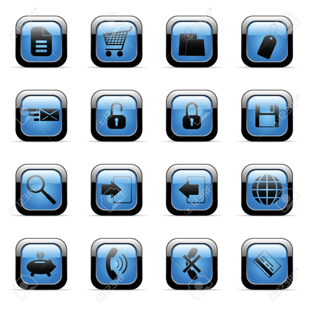 Vector icons set for web applications (set5) Stock Vector - 6514430