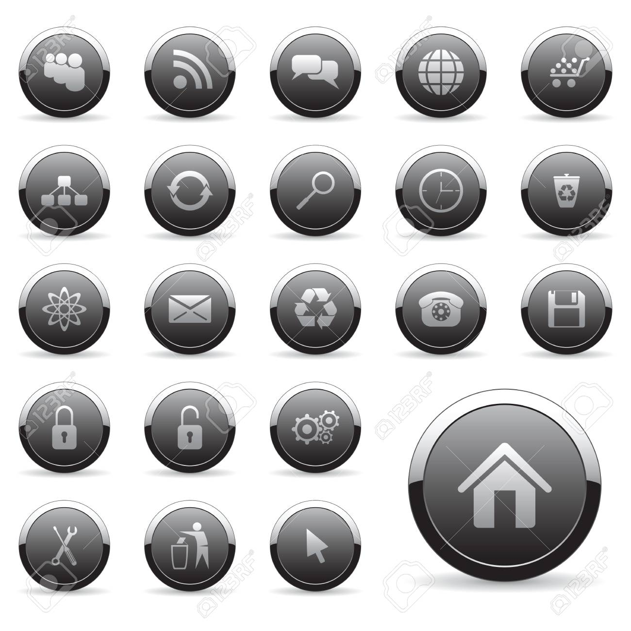 Vector icons set for web design Stock Vector - 6514443