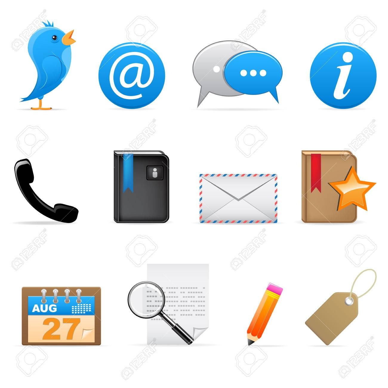 Social media icons Stock Vector - 6567358