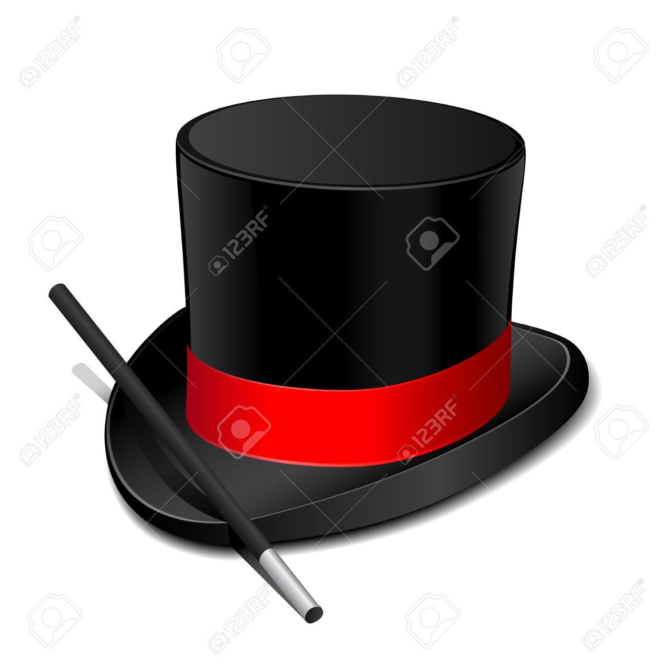 Magic hat with magic wand - 9533244