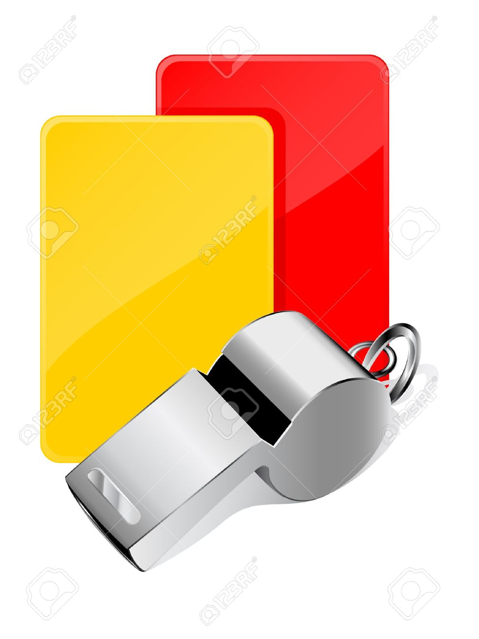 Cards and whistle, referee attributes Stock Vector - 10319824