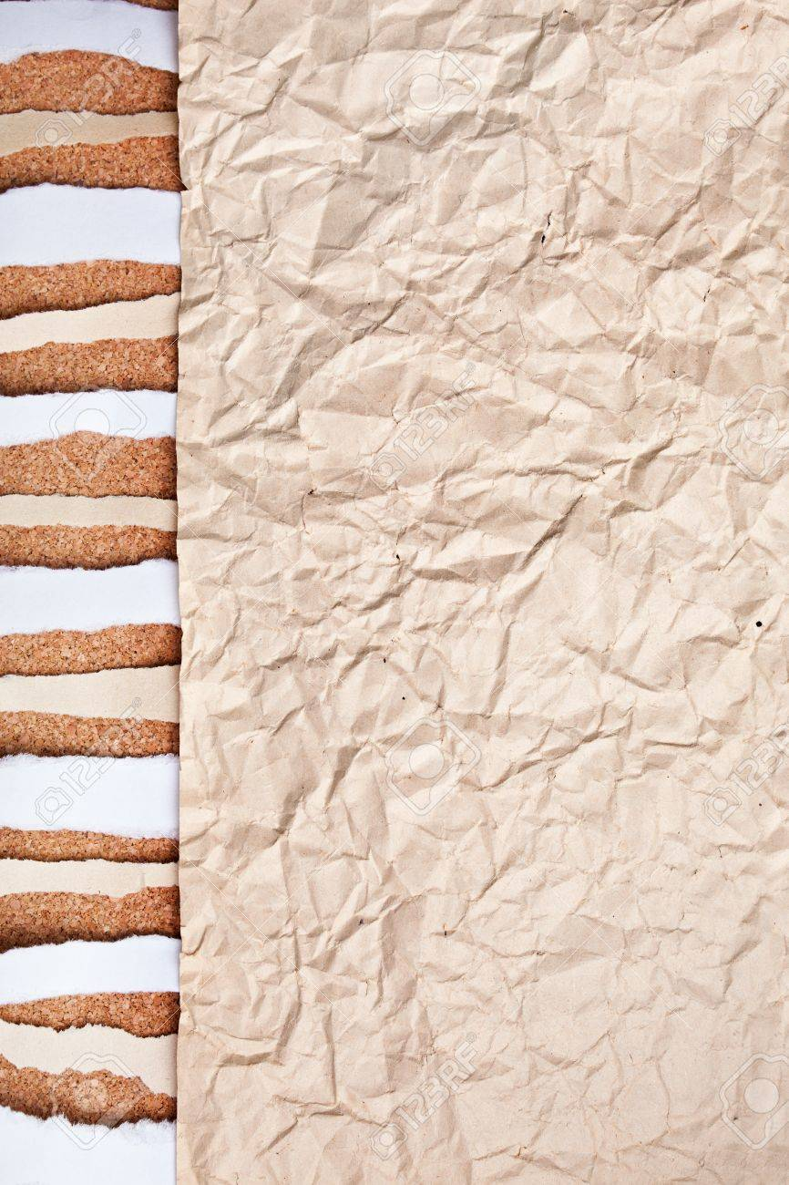 abstract old crushed paper background. ripped piece of paper Stock Photo - 10332307