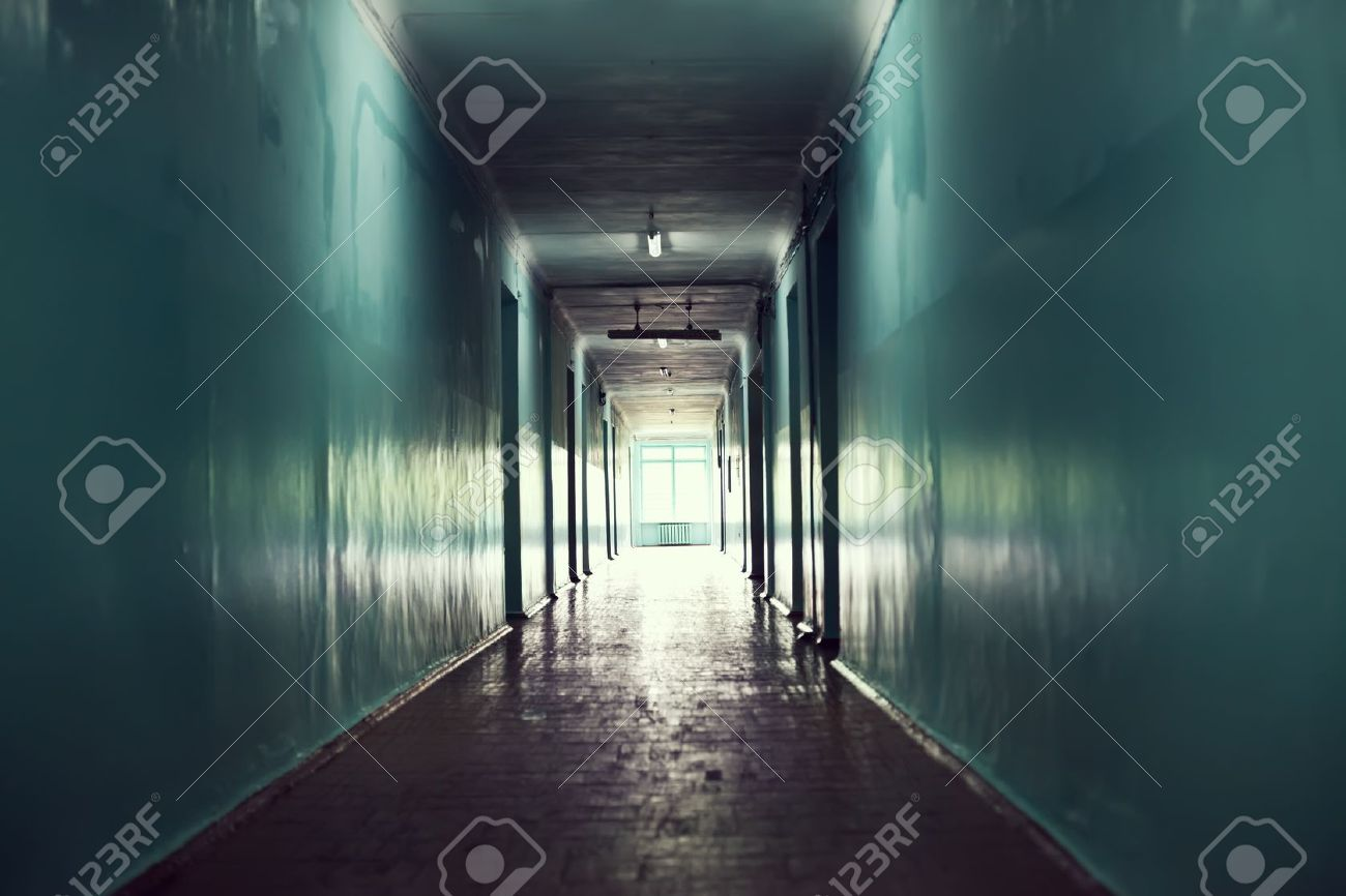dark corridor. Light at the end of the tunnel concept Stock Photo - 10876391