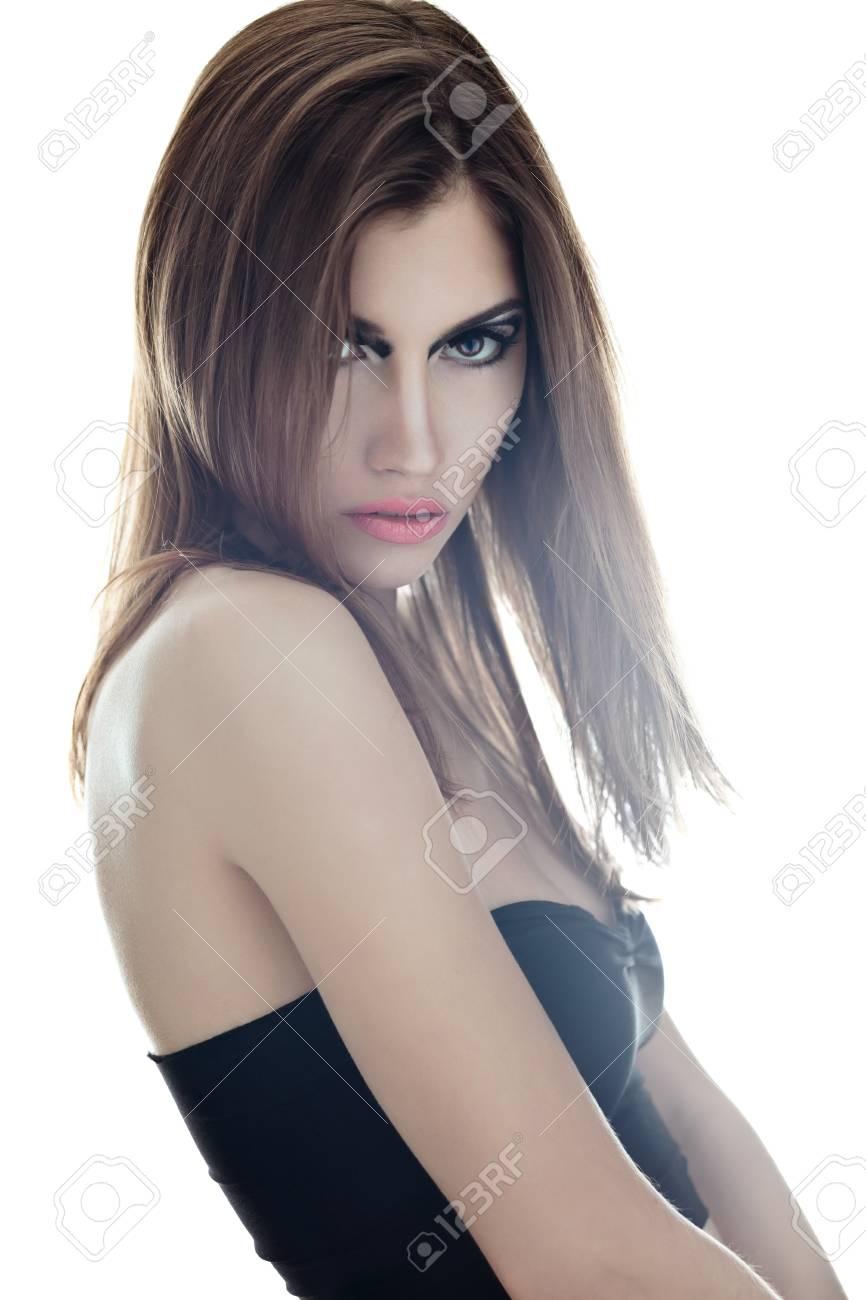sensual very beautiful woman on white background  Soft light Stock Photo - 22003690
