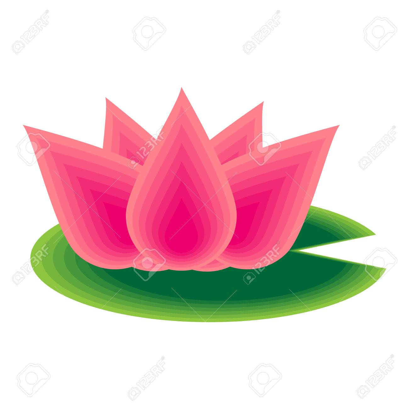 Vector Illustration Of Lotus Flower Royalty Free Cliparts Vectors