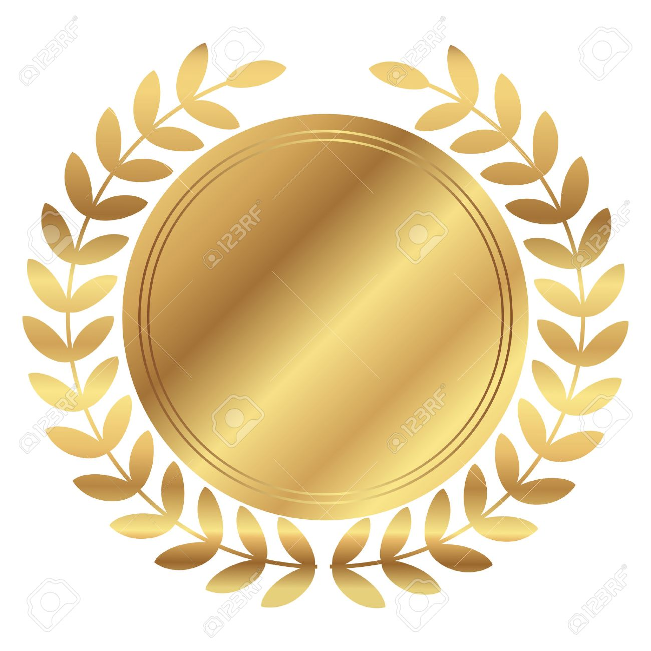 vector illustration of gold medal and laurels royalty free cliparts rh 123rf com royalty vector graphics royalty vector pattern