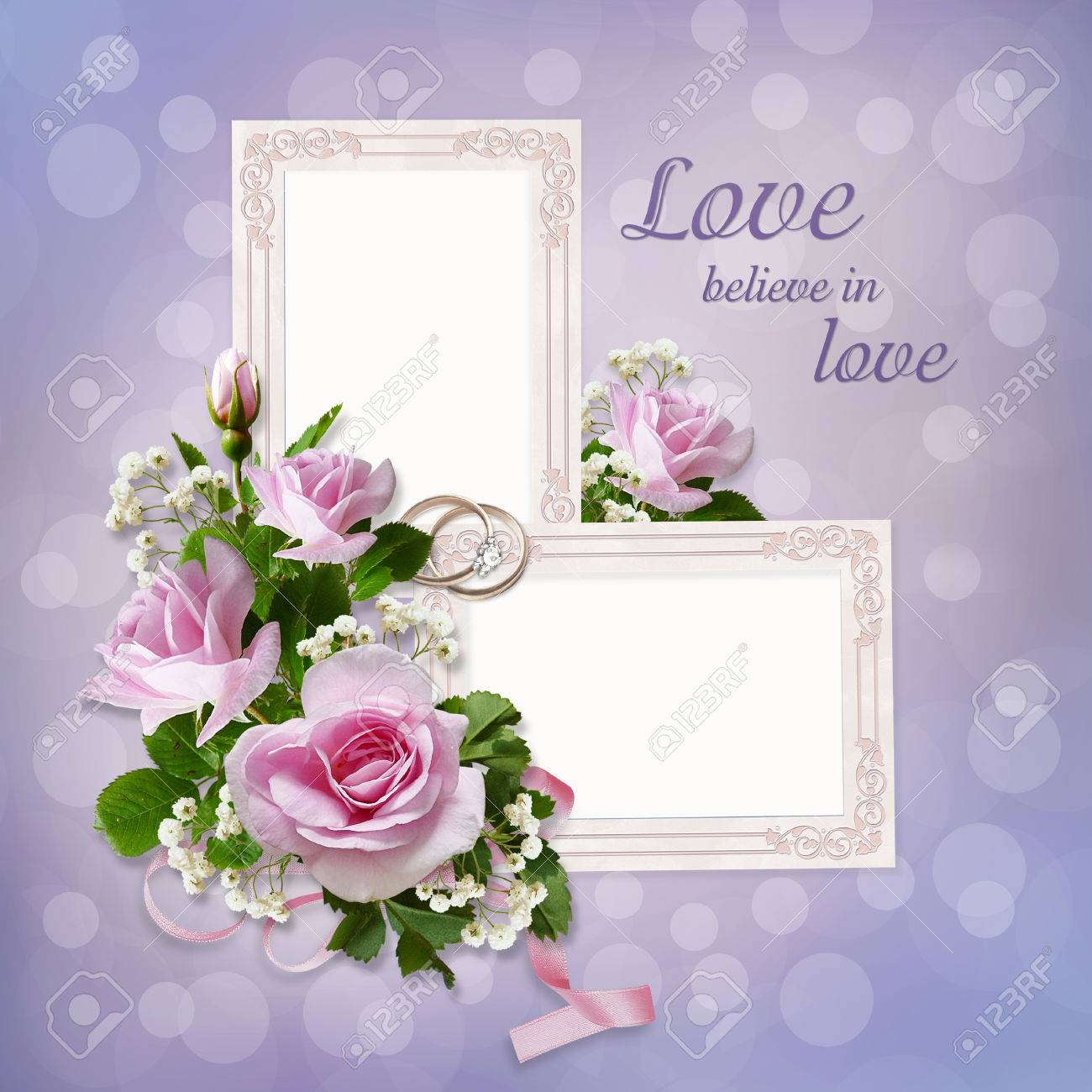 Roses Frames Wedding Rings On A Gentle Beautiful Background Stock Photo Picture And Royalty Free Image Image 54869600