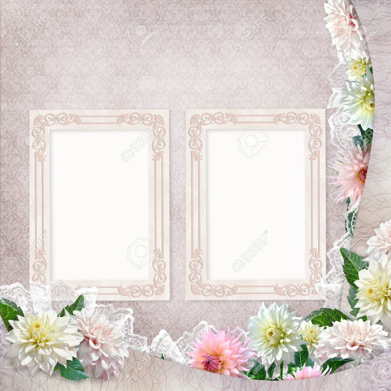 Beautiful borders with flowers lace and frames on the vintage beautiful borders with flowers lace and frames on the vintage background stock photo 57773154 izmirmasajfo