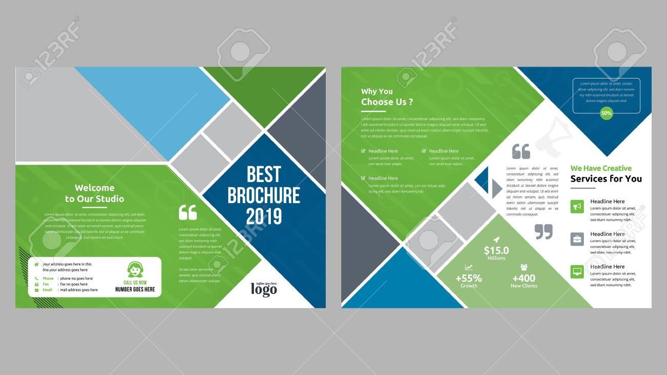 Corporate Bi-fold Brochure Template - 128854918