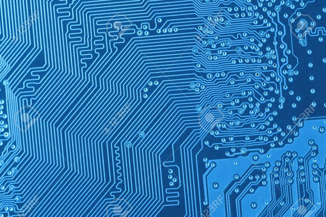 Macro Of Blue Circuit Board Stock Photo, Picture And Royalty Free ...