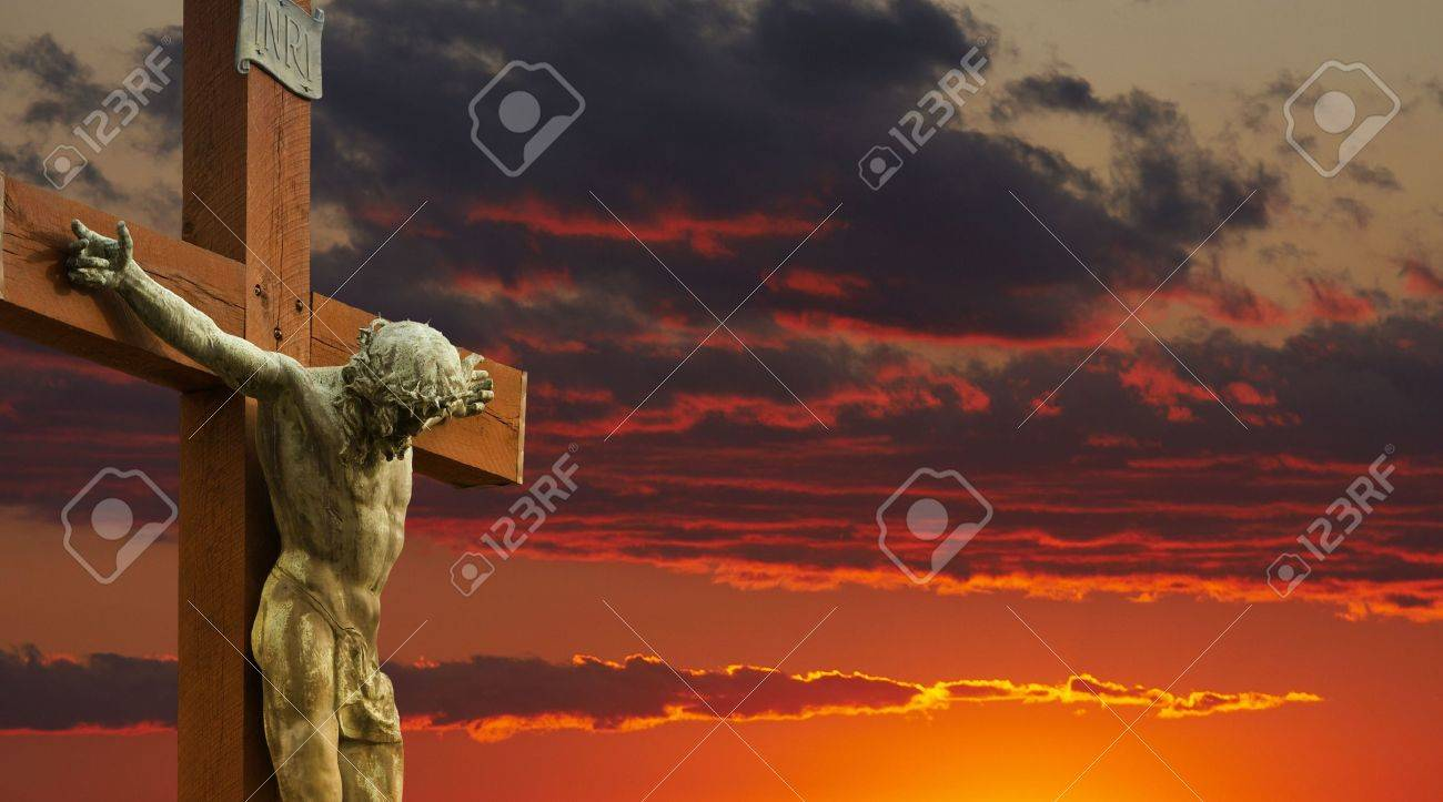 a picture of jesus on the cross stock photo picture and royalty
