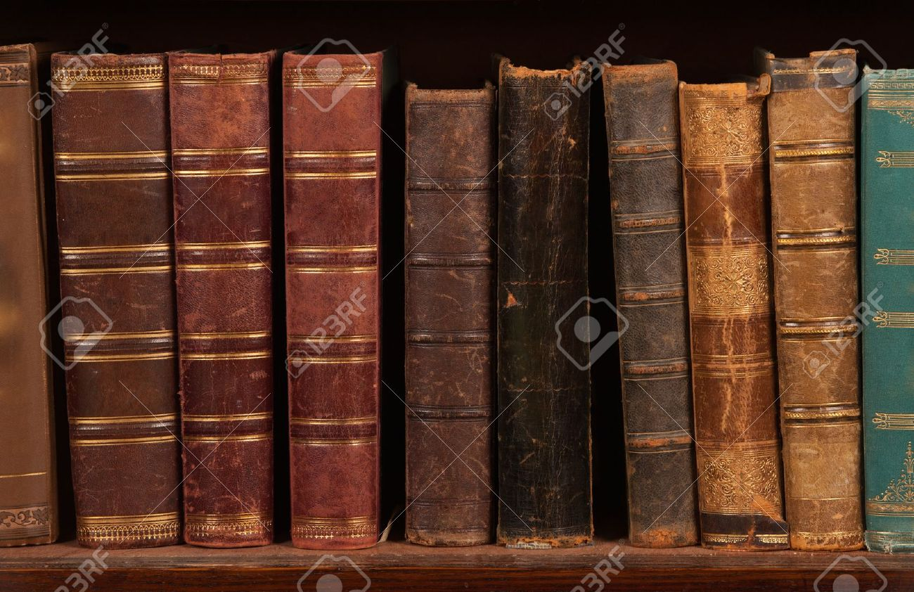 Antique Books On Bookshelf Stock Photo Picture And Royalty Free