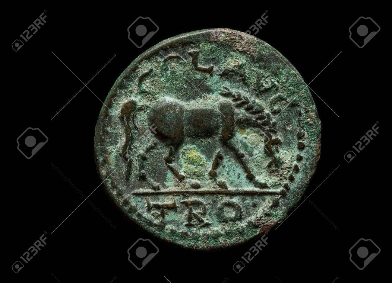 piece de monnaie avec un cheval dessus