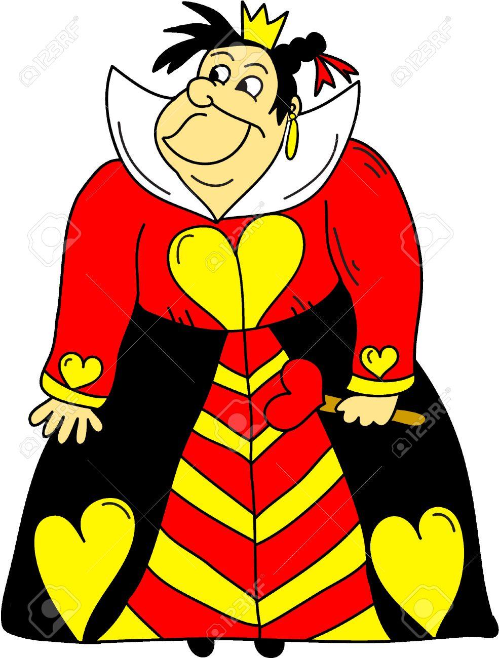 心クリップアート アリスのワンダーランド漫画の女王のイラスト素材