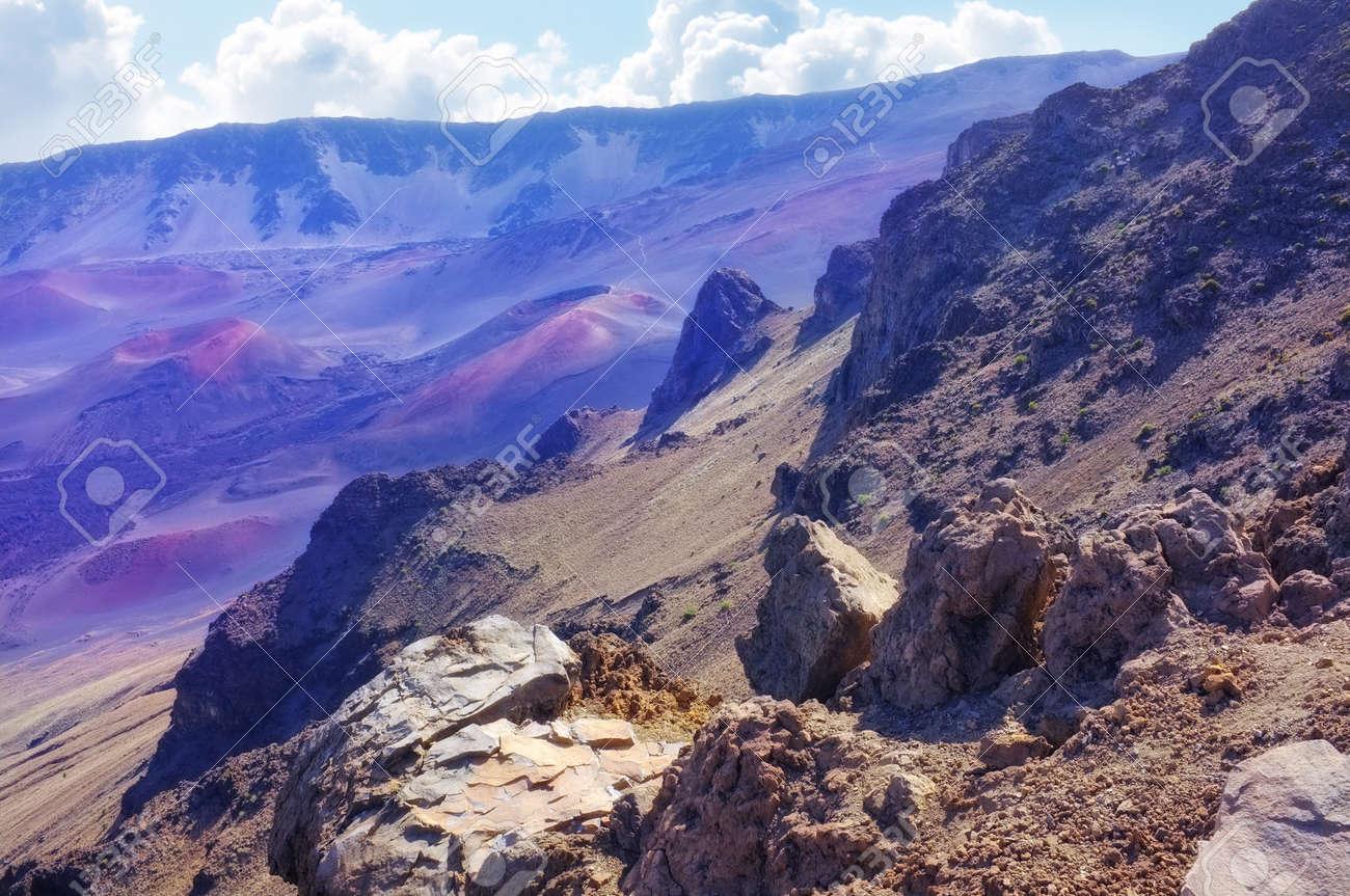 A photo of  Haleakala volcano in Maui from summit Stock Photo - 12564692