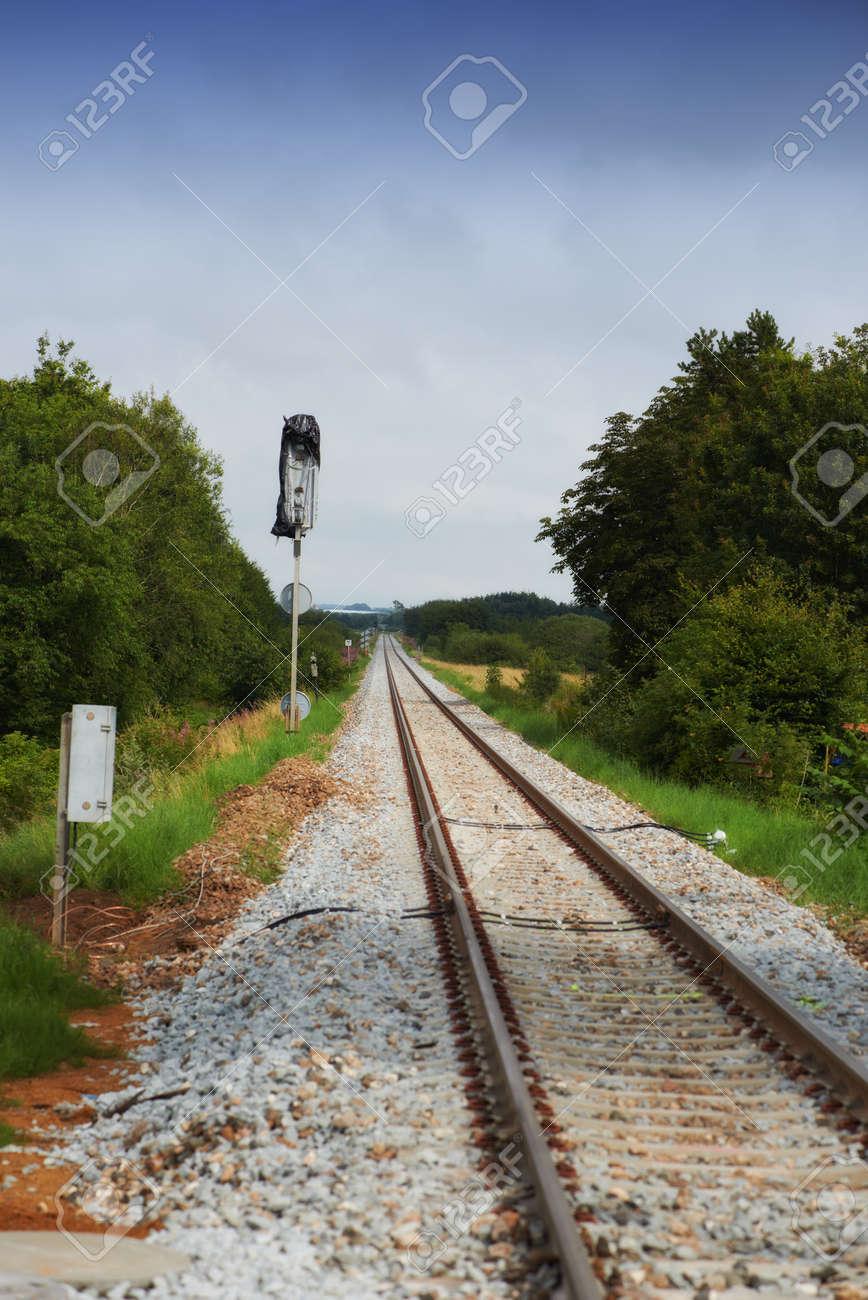 A photo of railway tracks Stock Photo - 17328052