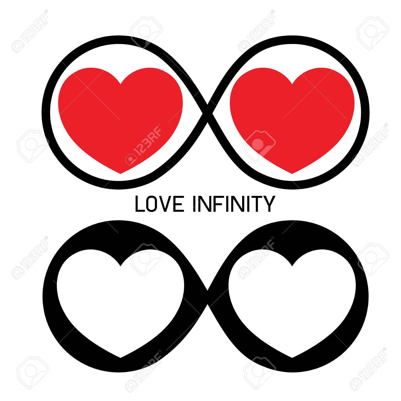 Infinity Love Forever Symbol Royalty Free Cliparts Vectors And