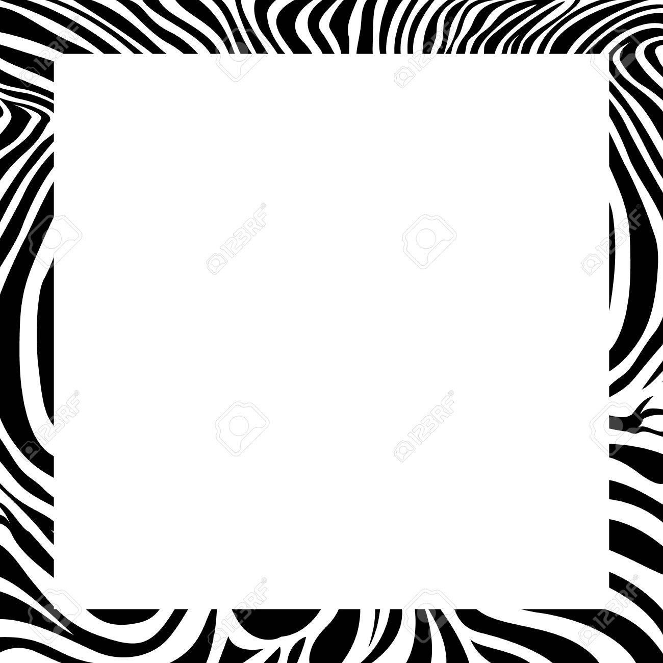 zebra print border frame design animal skin texture vector rh 123rf com vector zebra pattern for illustrator zebra pattern vector free download