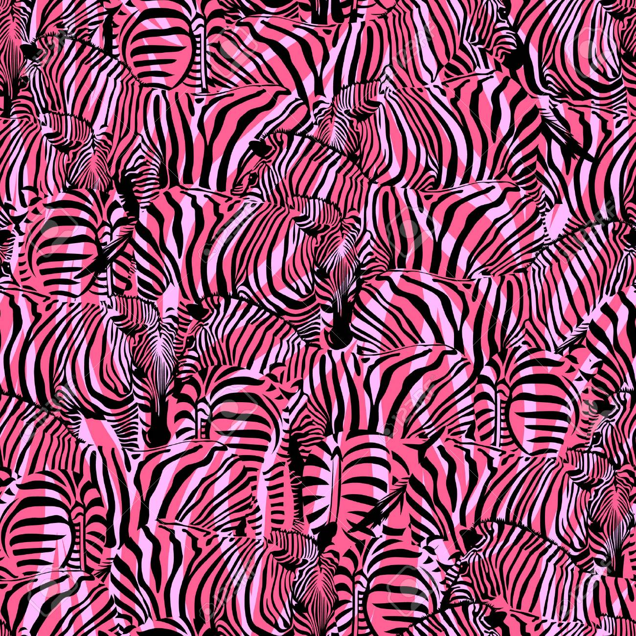 Vettoriale Zebra Con Sfondo Rosa Astratto Modello Senza Soluzione