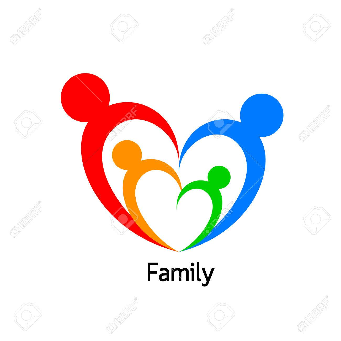 Family Logo In Heart Shape Logo Design Vector Illustration Royalty Free Cliparts Vectors And Stock Illustration Image 76955025
