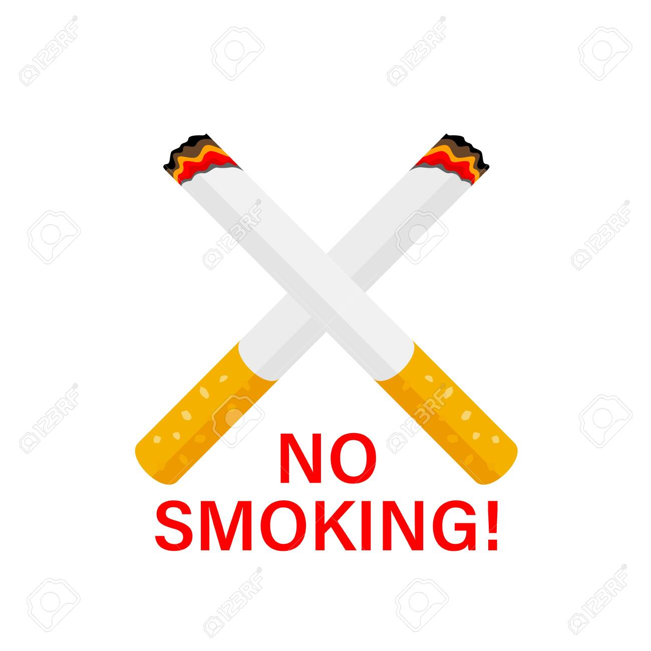 Cross Shaped Cigarette No Smoking Concept Vector Illustration Royalty Free Cliparts Vectors And Stock Illustration Image 147895447