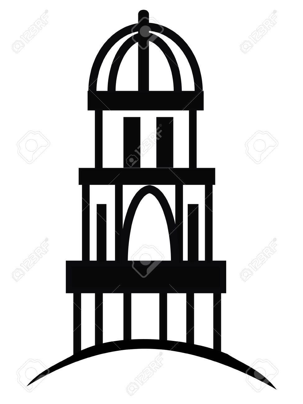 Temple or cupola silhouette logo Stock Vector - 10346175