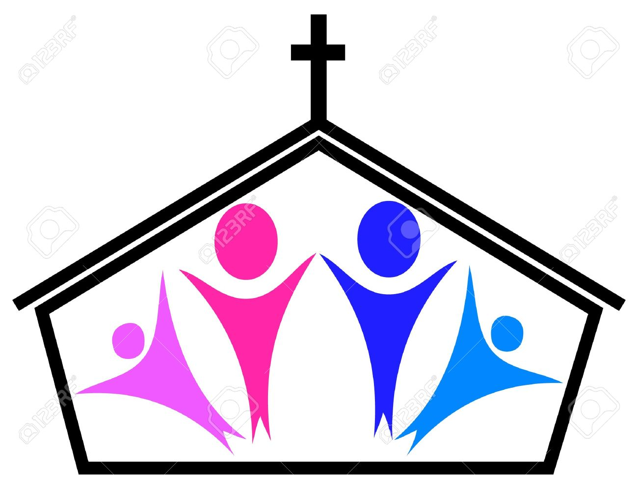 Church And Family Royalty Free Cliparts Vectors And Stock