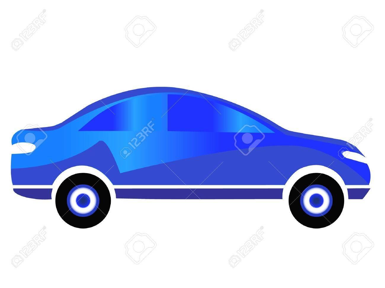 Blue car sport logo design Stock Vector - 10599188
