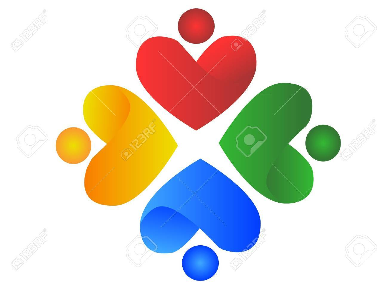 People of Hearts Stock Vector - 10599226