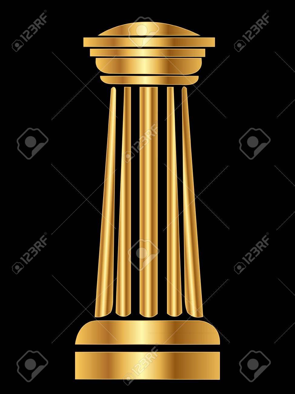Gold Column Vector Gold Column Ancient Vector