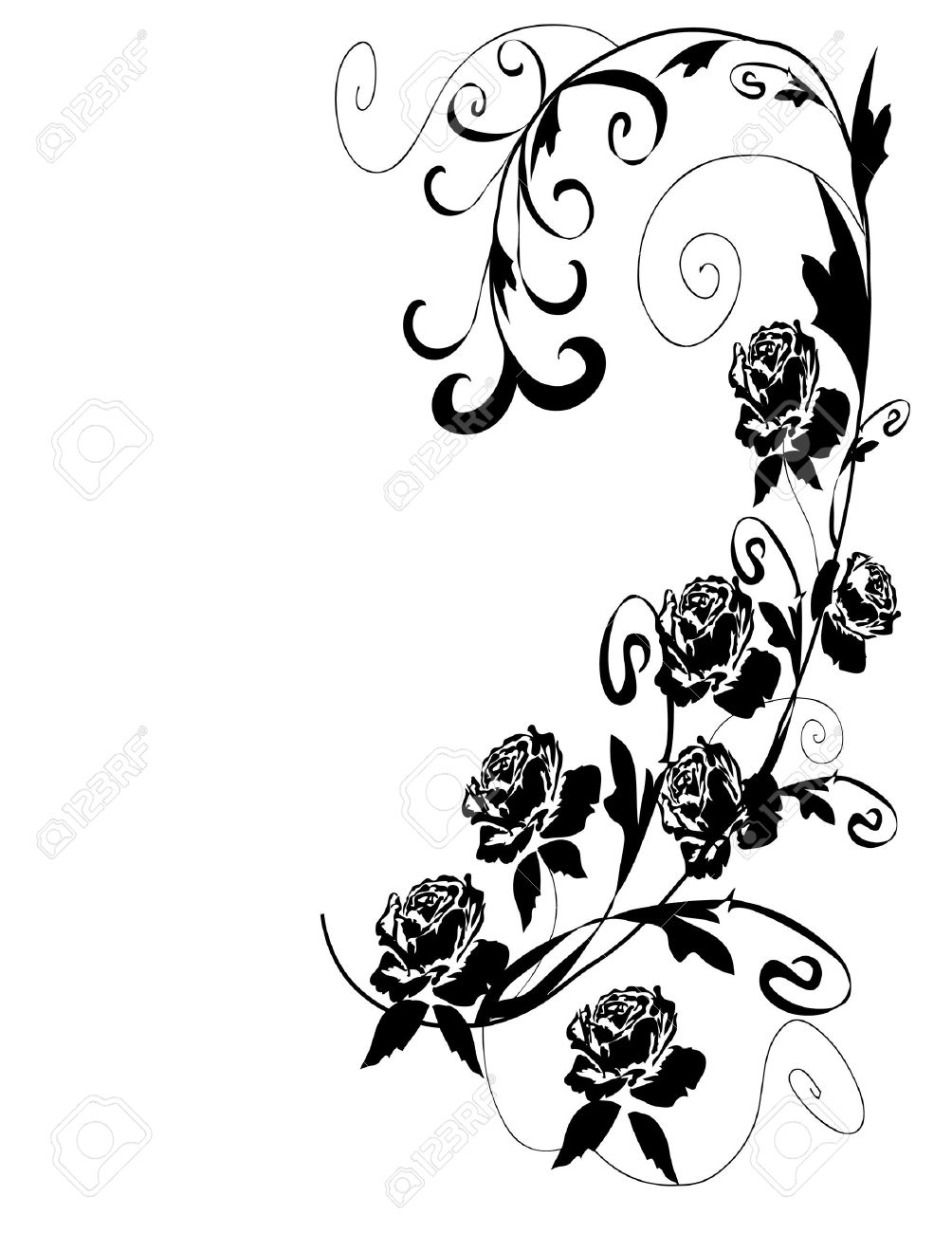Black Roses Design Royalty Free Cliparts Vectors And Stock