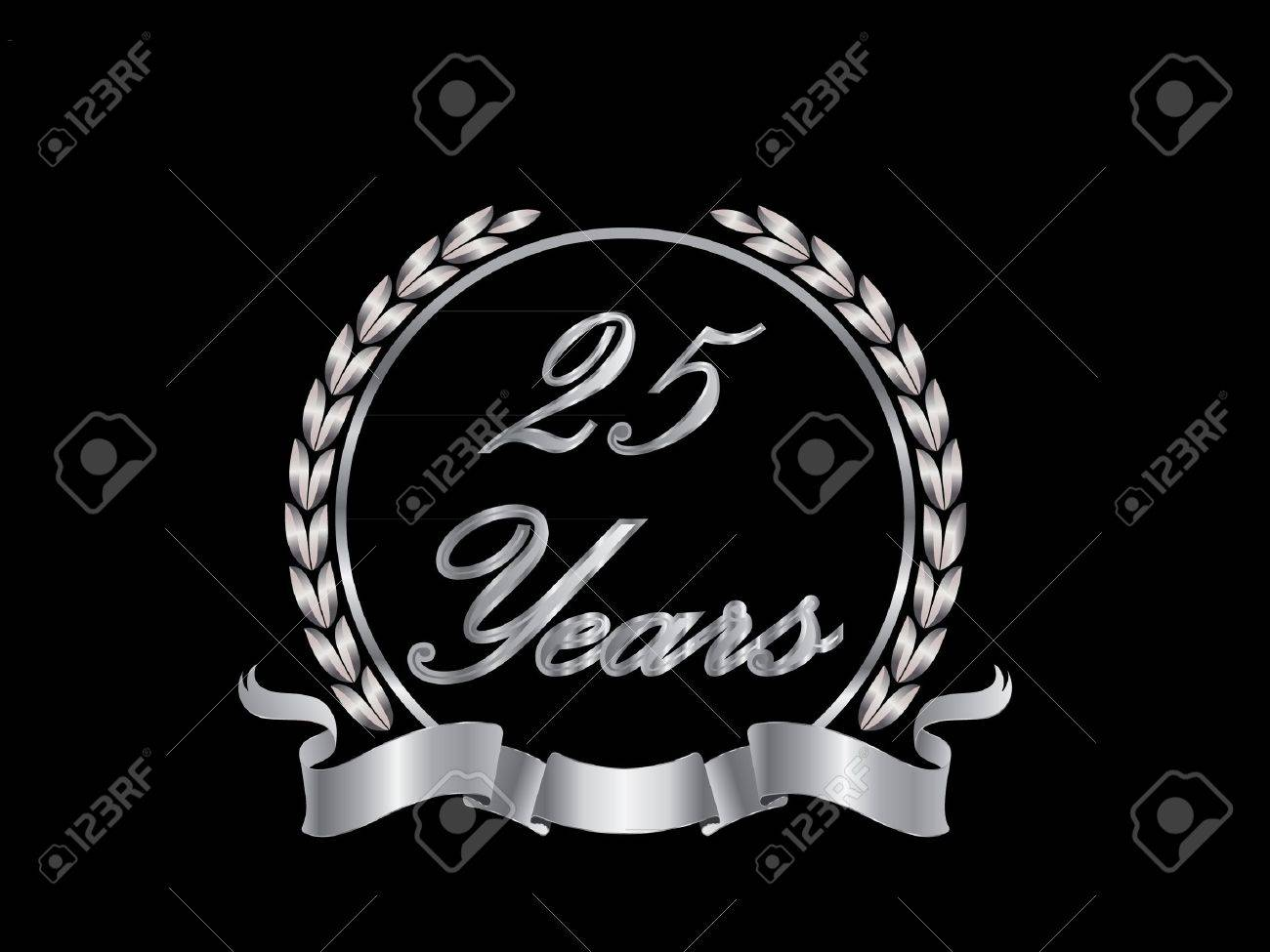 25 Years Stock Vector - 10599309