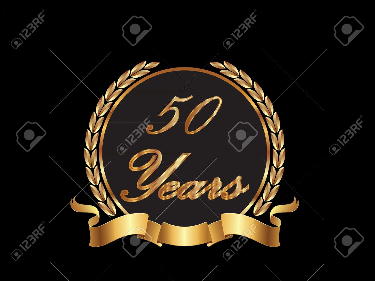 Years in gold royalty free cliparts vectors and stock